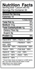 Sprout+ Nutrition Facts