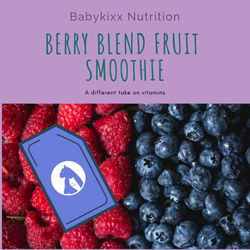 Berry Blend, Fruit Smoothie Vitamins For Couples (30 ready-to-eat pouches)