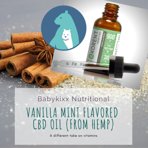 Vanilla Mint Flavored Full Spectrum CBD Oil from Hemp