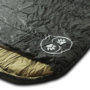 LoneWolf 0 Degree Oversized Premium Comfort Sleeping Bag, Black/Tan