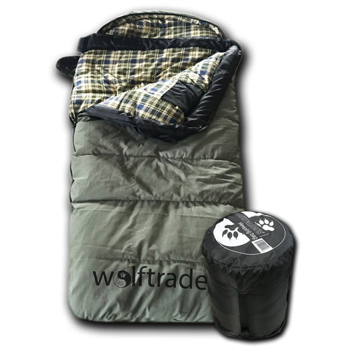KidCanvas 0 Degree Premium Canvas Youth Sleeping Bag