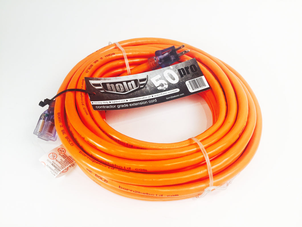 50' 10/3 extension cord, orange