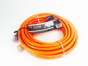 50' 10 gauge extension cord, orange