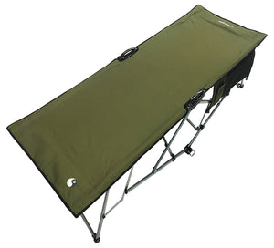 Turbocot Premium Deluxe Folding Hammock Camping Style Cot, Olive Green