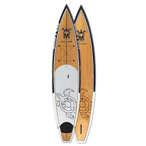 "12'6"" Bamboo Touring SUP Paddleboard with Fins and Bag"