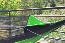 WolfSling Ultra Nylon Two Person (2P) Bug Free Lightweight Hammock Green/Black