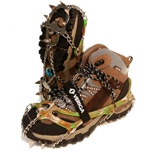 MountTrack Camouflage 14-Point 3/4-Inch Hiking and Mountaineering Crampons