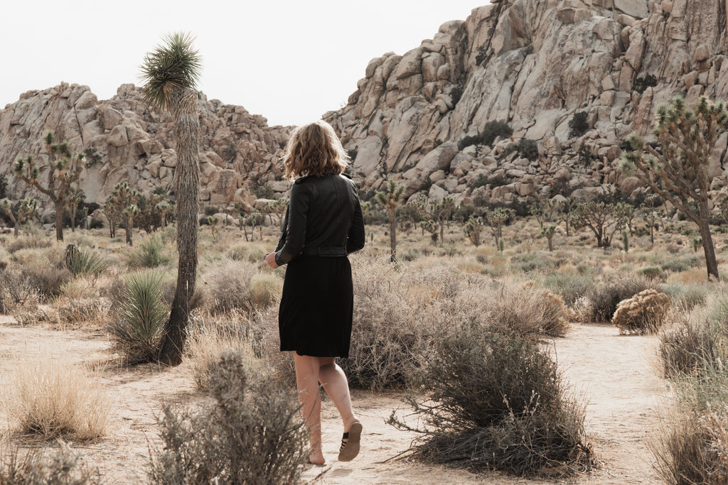 Exploring Joshua Tree with the Lika Rulla Moto Jacket