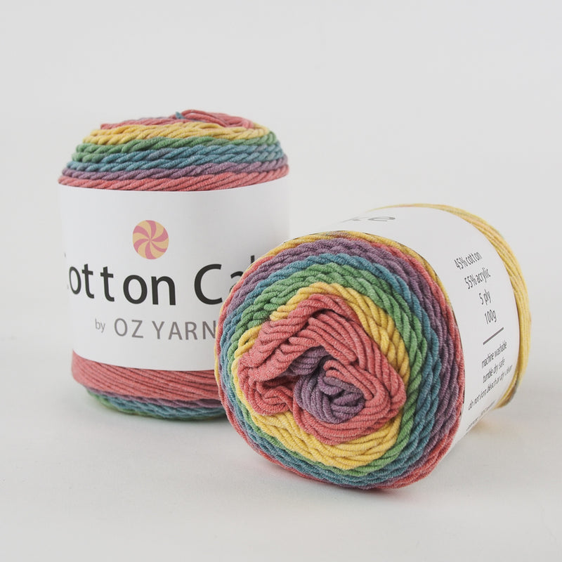 Cotton Yarn Cakes 100g (9 colours available) - Oz Yarn