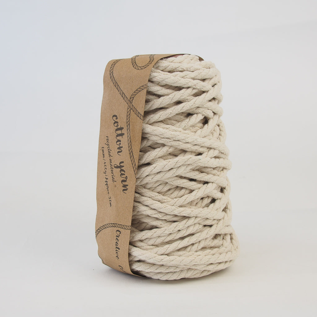 Creative Corner Macrame Cotton Rope 400g - Recycled material - Oz Yarn