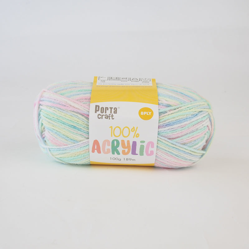 Porta Craft 100% acrylic 8ply (multicolour)