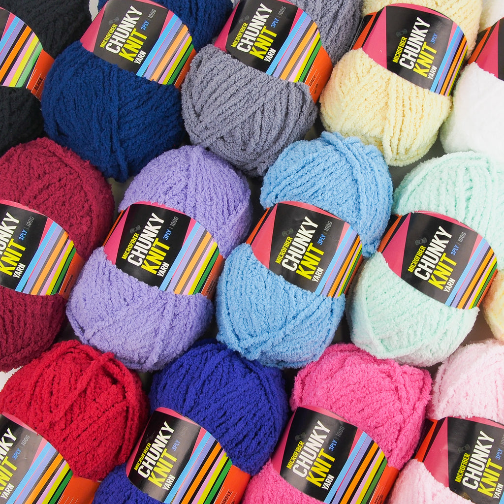 Microfibre Chunky Yarn 100g (15 colours) - Oz Yarn