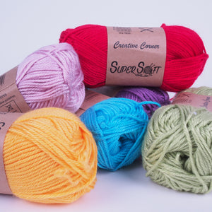 Creative Corner Super Soft Yarn 8 ply 100g (30 colours available) - Oz Yarn