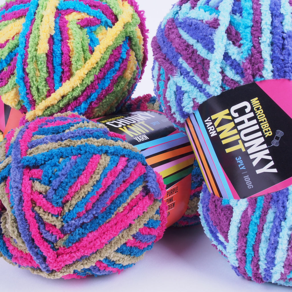Microfiber Chunky Knit Yarn 100g (16 colours available) - Oz Yarn