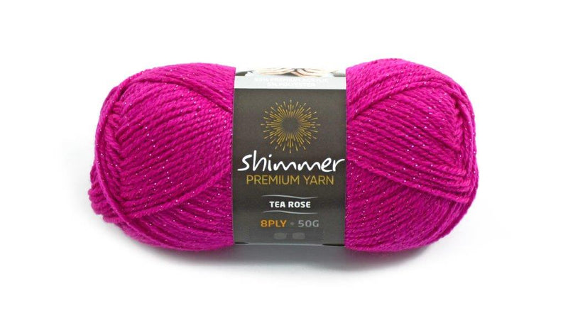 Shimmer Yarn - 50g (12 colours available) - Oz Yarn