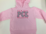 Embroidered Hooded Sweatshirt (Pink)