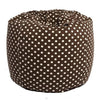 Adult Round Polka Dot, Brown Beanbag