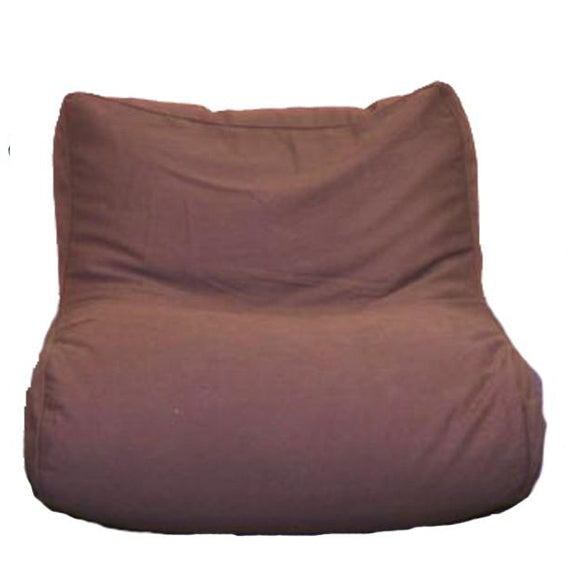 Lounge Sectional Center Unit Brown Twill Beanbag Chair