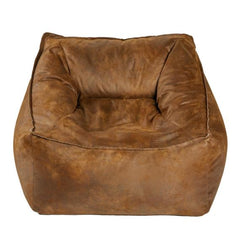Lounge Chair  Faux Leather Tobacco