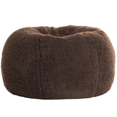 Adult Round --  Cozy Sherpa Cappuccino  Beanbag