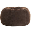 Adult Round -- Fur Sherpa Chocolate Beanbag