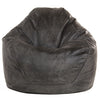 Adult Pear, Faux Leather, Charcoal Solid Beanbag.