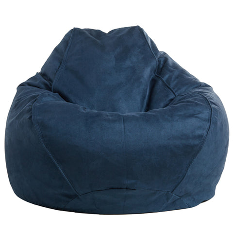 Adult Pear, Faux Suede, French Navy Solid Beanbag.