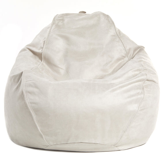 Adult Pear Faux Suede Sand Solid Beanbag Chair Bean Bag