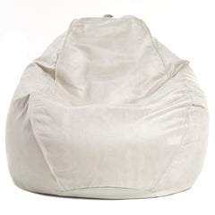Adult Pear, Faux Suede, Sand Solid Beanbag
