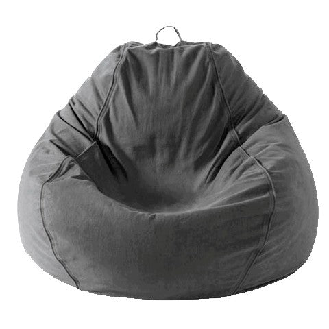 Adult Pear, Twill, Charcoal Grey Beanbag.
