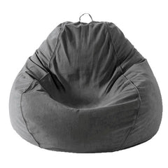 Adult Pear, Twill, Charcoal Gray Beanbag