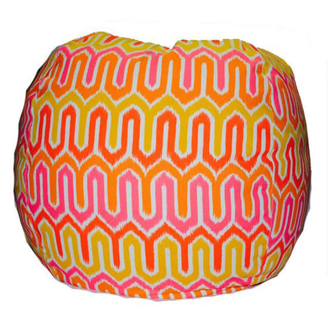 Giant -- Ikat, melon/pink (Part of our Outdoor collection)