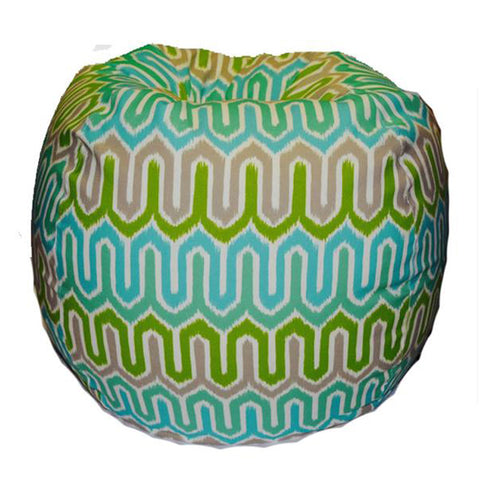 Giant -- Ikat, turquoise/green (Part of our Outdoor collection)