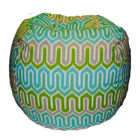 Outdoor Giant -- Ikat, turquoise/green