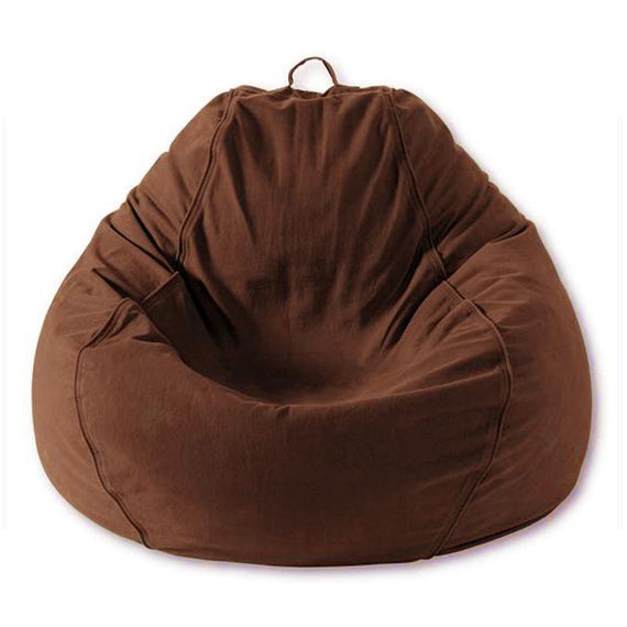 Adult Pear, Twill, Brown Beanbag