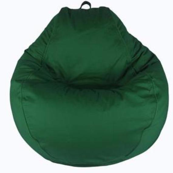 Adult Pear, Twill, Forest Green Solid Beanbag