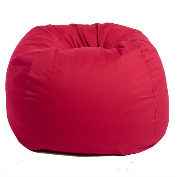 Adult Round -- Twill, Red Beanbag