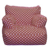 Lounge Beanbag Lounger, Twill Brown Polka Dot