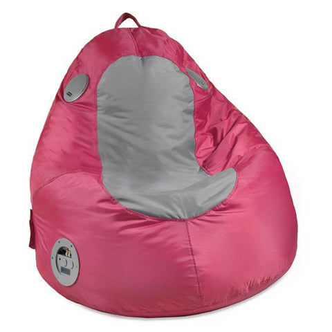 Gaming/Audio Blobby, Nylon, Pink/Gray Beanbag