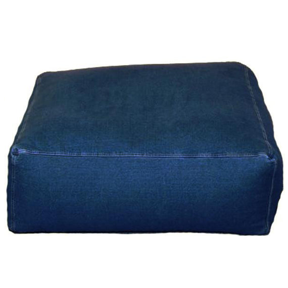 Lounge, Sectional, Ottoman Unit, Denim, Indigo
