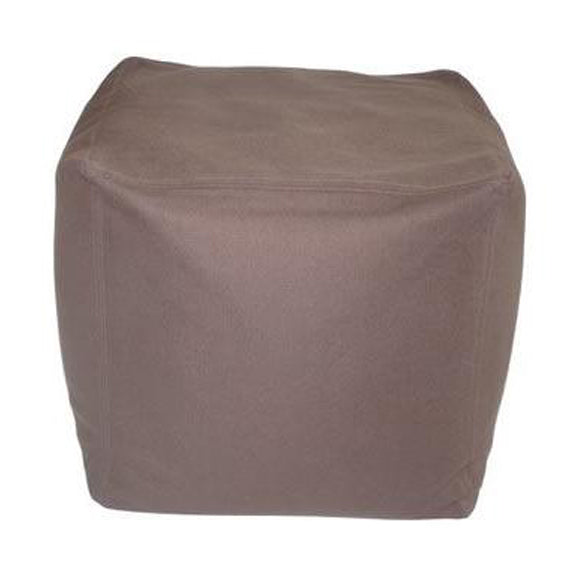 Ottoman/Pillow, Cube, Twill, Brown