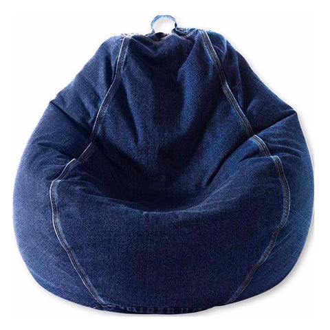 Adult Pear, Denim, Indigo Beanbag