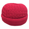 Kids Round - Knitted Chenille Beanie Beanbag- Red