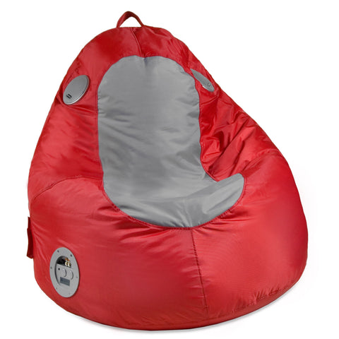 Gaming/Audio Blobby,Nylon, Red/Gray Beanbag