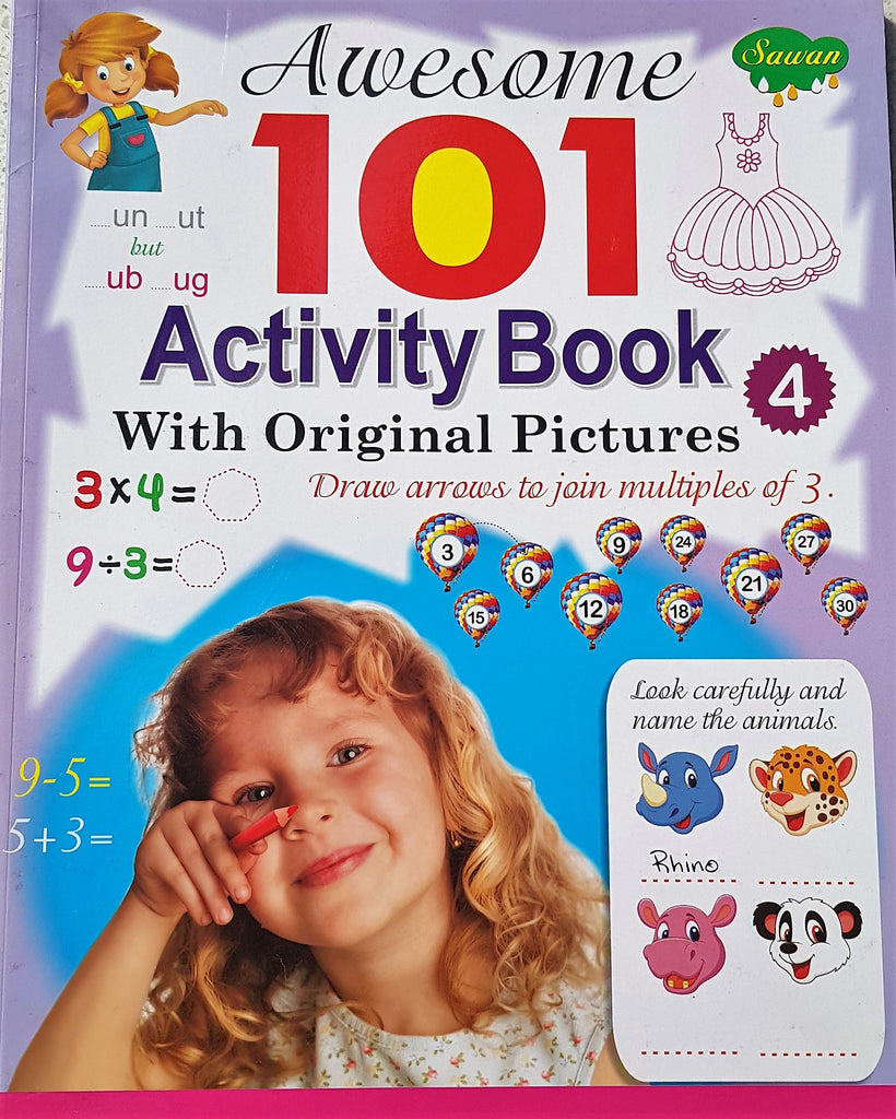 Awesome 101 Activity Book - 4 (With Original Pictures)