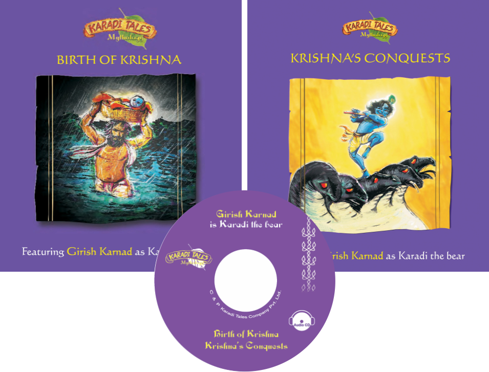 Birth of Krishna and Krishna's Conquests (2 Books + Audio CD)