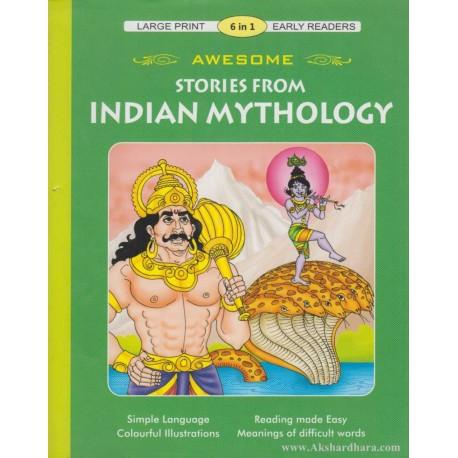 Large Print 6 In 1 Awesome Stories From Indian Mythology