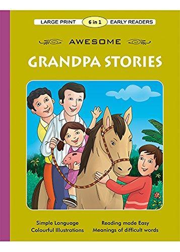 Large Print 6-In-1 Early Readers Awesome Grandpa Stories