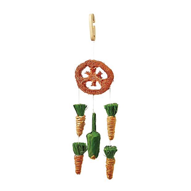 Mini Loofah and Veggie Mobile Toy