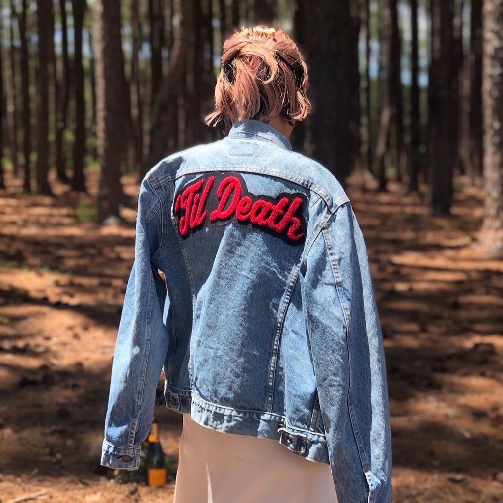 'Til Death • Denim Jacket + Chenille Patch